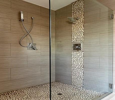 Badkamer renovatie nieuwe douche