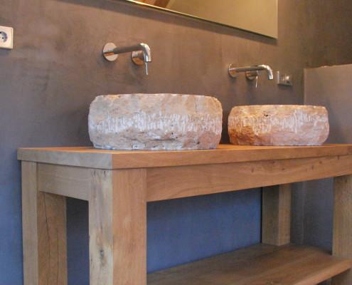 Landelijke badkamer wastafel