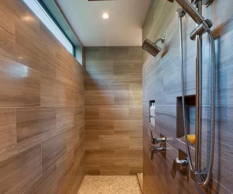 Moderne badkamer inloop douche