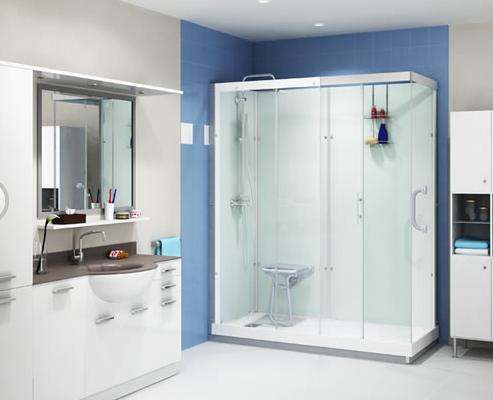 Senioren badkamer douche en bad