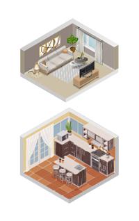 Comfortabel wonen woonkamer en keuken.